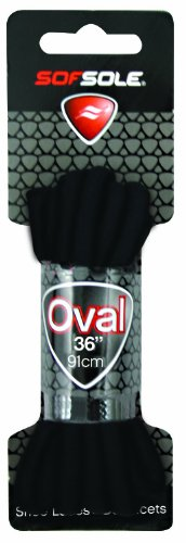 Sof Sole Athletic Oval Shoe Lace (Black, 54-Inch) by Sof Sole