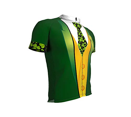 St. Patrick's Irish Tuxedo Full Zipper Bike Short Sleeve Cycling Jersey for Men - Size XL