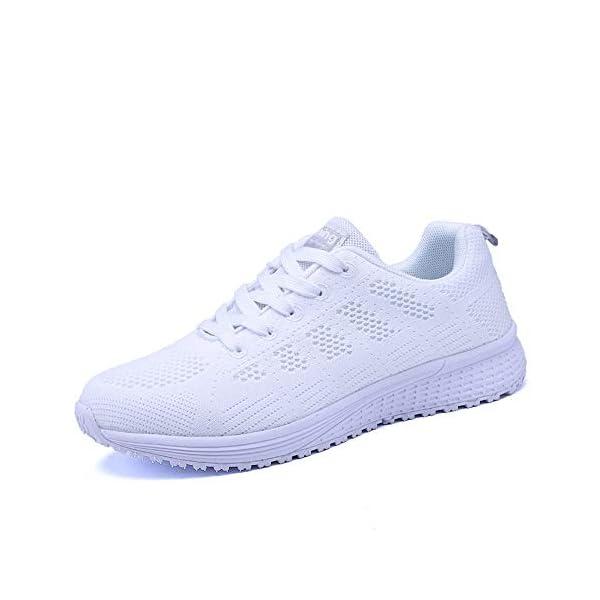 Scarpe Donna da Ginnastica Running Sports Sneaker da Fitness Allacciare Maglia Nero Blu Grigio Bianco Verde 35-44