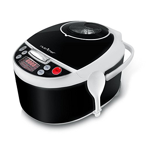 NutriChef Digital Multi-Cooker, Electronic Slow Cooker, Rice Cooker & Steamer