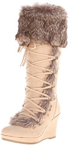Report Women's Pearson Winter Boot, Tan, 9 M US - Report Faux Fur Boot