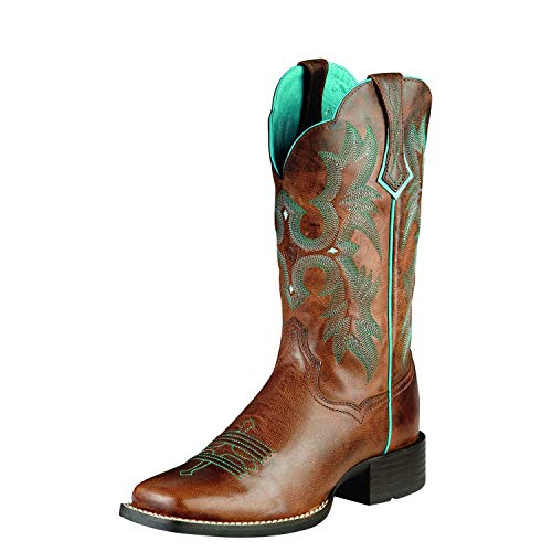 Ariat - Womens Tombstone Western Western Shoes, Size: 8 B(M) US, Color: Sassy Brown/Sassy Brown
