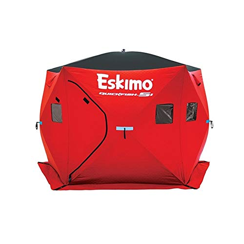 Eskimo 24105 Quickfish 5I Pop-Up Portable Ice Fishing Shelter, 4 - Ice Clam Shelter Fishing