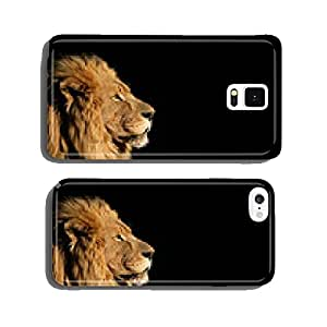 Portrait of a big male African lion on black cell phone cover case iPhone6 Plus