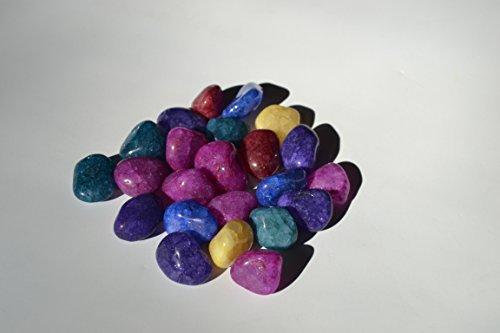 One Pound Colorful Crackle Quartz Mix