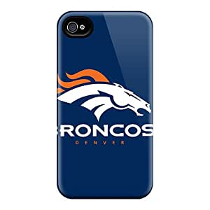 AlissaDubois Iphone 4/4s Shock Absorbent Hard Phone Case Allow Personal Design High-definition Denver Broncos Image [Tev1221Bdxi]