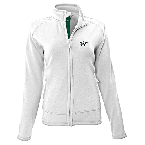 Levelwear LEY9R NHL Dallas Stars Adult Women Tranquil Insignia Icon Heather Full Zip Jacket, Medium, White
