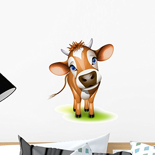 Sweet Face Jersey (Wallmonkeys Little Jersey Cow Wall Decal Peel and Stick Graphic (18 in H x 18 in W) WM289745)