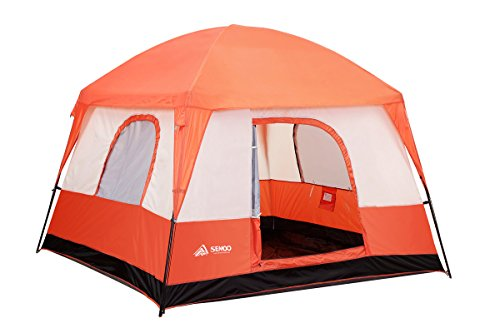 SEMOO Waterproof 4-5 Person 2 Doors 3 Season Family Cabin Tent for Camping with Carry Bag, - Dome Tent Family Cabin