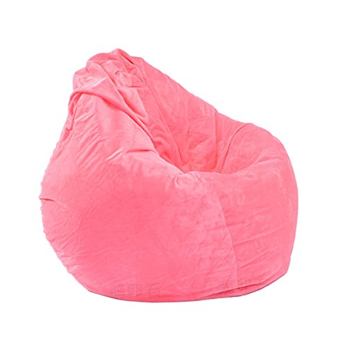 Dolity 2 in 1 Premium Stuffed Animal Storage Bean Bag Chair Cover - EXTRA LARGE Childrens Plush Toy Organizer for Kids - Pink by Dolity