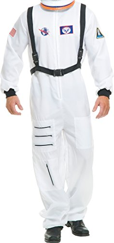 Charades Adult's Astronaut Costume, White -