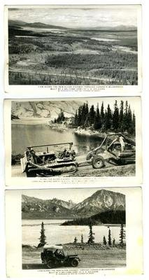 alcan-highway-construction-views-real-photo-postcards-canada-wilderness