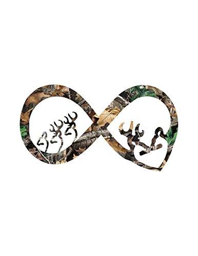Infinity Buck and Doe Decal Infinity Decal