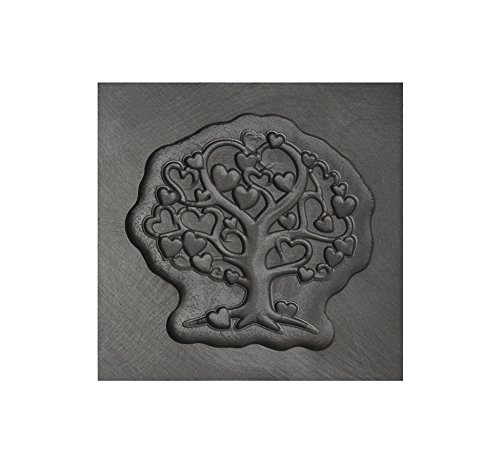 Small - Tree of Love 3D Graphite Ingot Mold for Precious Metal Casting Gold Silver Copper Melting