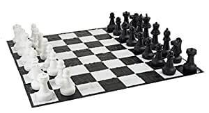 Giant Chess Set with Giant Mat