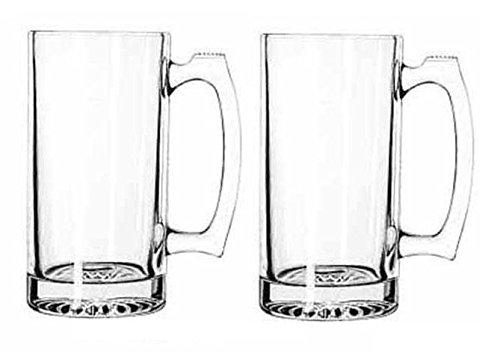 GIANT BEER MUG SUPER MUG STIEN THICK GLASS 26OZ PACK OF 2 for $<!--$15.99-->