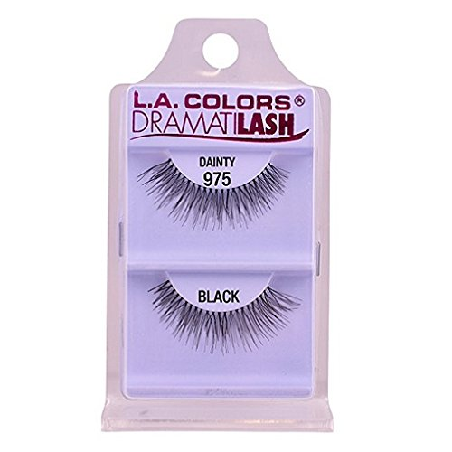L.A. Colors Dramatilash Dainty Eyelash, Black, 0.01 Ounce