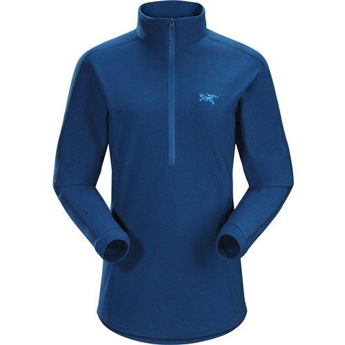 Arc'teryx Delta LT Fleece 1/2-Zip Pullover - Women's Poseidon, L (Micro Fleece 1/2 Zip Pullover)