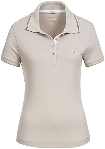 Champion para mujer Polo-Shirt Beige beige Talla:XL: Amazon.es ...
