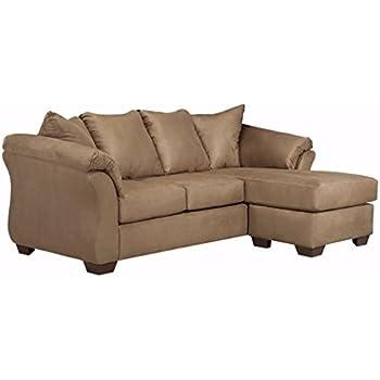 Ashley Furniture Signature Design - Darcy Sofa Chaise - 3 Seats - Ultra Soft Upholstery - Contemporary - Mocha