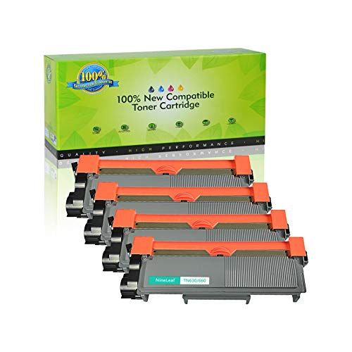 NineLeaf Compatible Toner Cartridge Replacement for Brother TN660 TN-660 TN630 HL-L2315DW HL-L2380D MFC-L2685DW MFC-L2740DW Printer (4 Black), Up to 2,600 Page yld -  NineLeaf Tech, QNL-AMA004-TN660-4PK