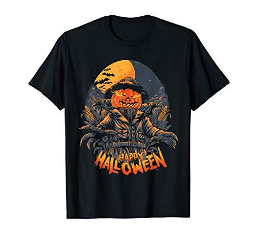 Scarecrow in halloween pumpkin happy halloween Great gift T-Shirt
