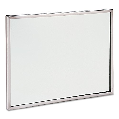 SeeAll Stainless Steel Framed Mirror, 18 x 24 , Silver