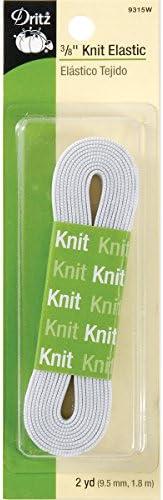 White Dritz 9314W Knit Elastic 1//4-Inch by 3-Yard