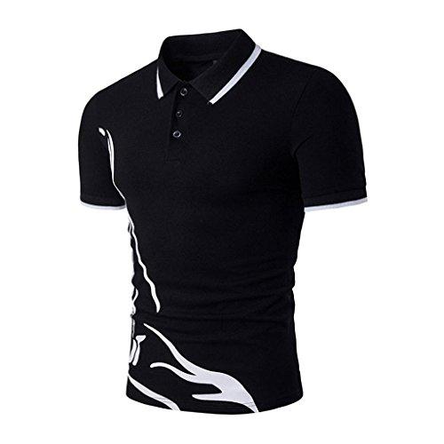 e2c63593 ... Creazrise Men's Shirts,Men's Fashion Tee Tops Slim Sports Short Sleeve  Casual Polo T-
