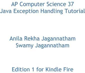 Amazon.com: AP Computer Science 37 Java Exception Handling