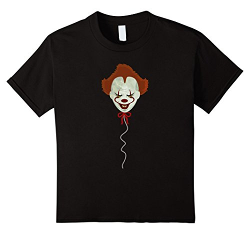 It Scary Clown Costumes (Kids Scary Clown -Easy Halloween Costume - Halloween Shirt 12 Black)