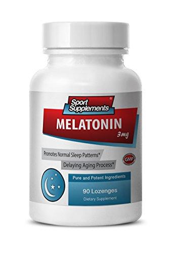 Melatonin sublingual - Melatonin 3mg - Protects against damaged cells (1 Bottle - 90 Lozenges) (1 Mg 90 Pills)