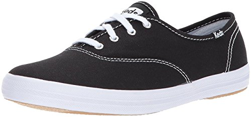 Keds Women's Champion Original Canvas Sneaker,Champion Black Canvas,7 M US (Original Casual Shoe)