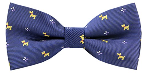 Carahere Boy's Handmade Personality Puppy Patterned Bow ties M107 blue