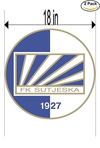 fan products of Sutjeska Yugoslavia Soccer Football Club FC 2 Stickers Car Bumper Window Sticker Decal Huge 18 inches