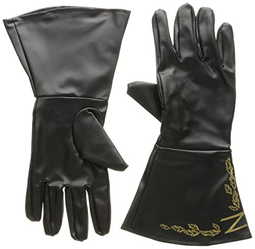 (Rubie's Men's Zorro Adult Gauntlets, Black, One Size)