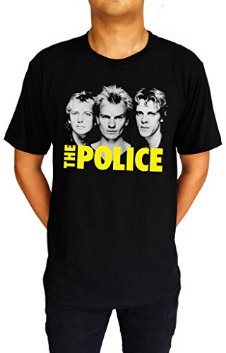 The Police Music Band Punk Rock UK Sting Andy Stewart T-Shirt XX-Large - Police Shop Uk