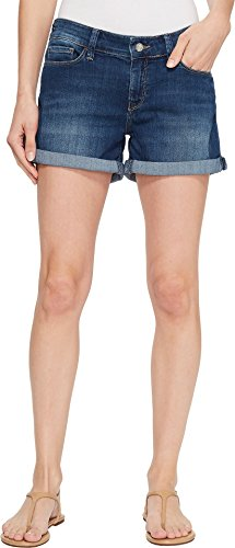 Mavi Jeans Women's Vanna Mid-Rise Cuffed Shorts in Dark Shaded Tribeca Dark Shaded Tribeca 27 4