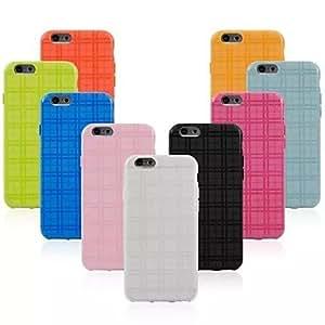ZMY cubierta del tpu a cuadros para el iphone 6 (colores surtidos) . Orange