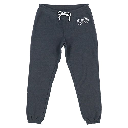 Gap Women Pants - GAP Women's Sweatpant Logo (Dark Grey, Large)