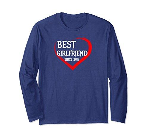 Unisex Best Girlfriend Since 2017 1st Year Anniversary T-shirt Large Navy