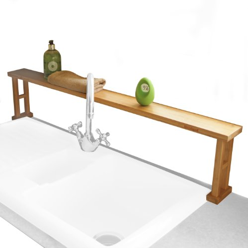 (Kitchen Over Sink Shelf Rack, Made of Waterproof Natural Bamboo)