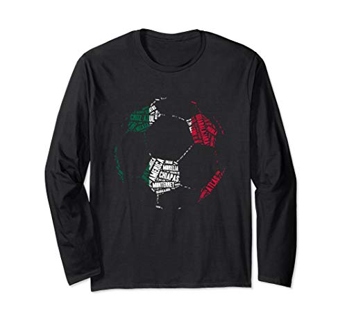 Mexican Teams Long Sleeve Shirt - Mexico Soccer Gift Jersey