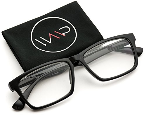 WearMe Pro - Black Frame Unisex Rectangular Reading - Glasses Frames Black