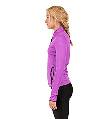 RBX Active Women's Lightweight Bonded Jacquard Full-Zip Jacket