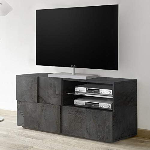 Mueble de TV moderno, 120 cm, antracita SANDREA 5: Amazon.es: Hogar