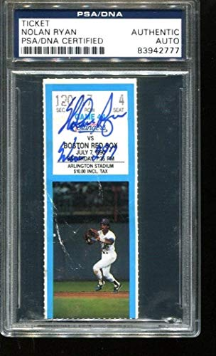 Nolan Ryan Autographed Signed Ticket 297Th Win 7/7/90 Autographed Signed Arlington PSA/DNA Authentic 83942777