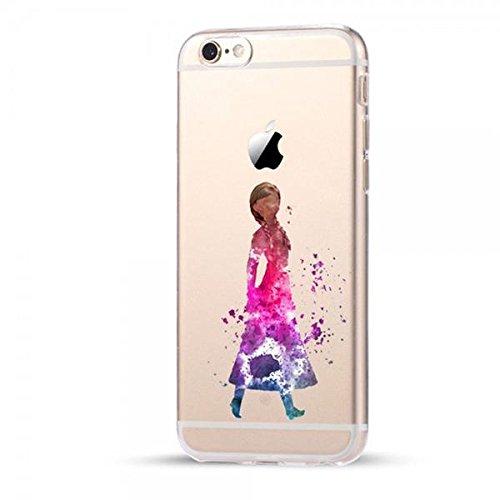 Disney Frozen Schutzhülle Appel Iphone Serie TPU transparent Silikon Case Appel Iphone Cartoon Hülle -AcAccessoires (Iphone 6/6S, #0038)