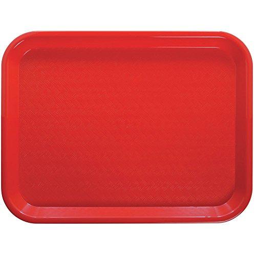 HUBERT Plastic Fast Food Tray Red - 16'' L x 12'' W 24 Per Case by Hubert