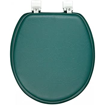 Ginsey Solid Hunter Green Padded Toilet Seat Standard